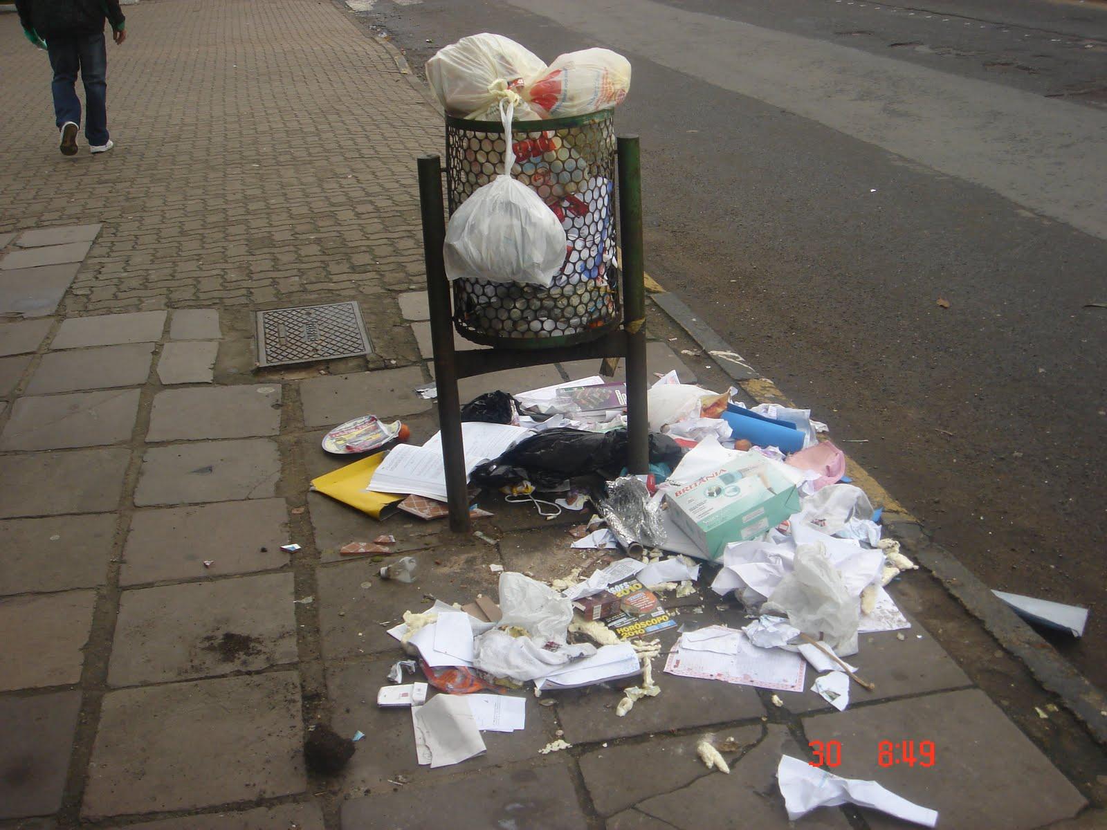 Resultado de imagem para Lixo calçadas